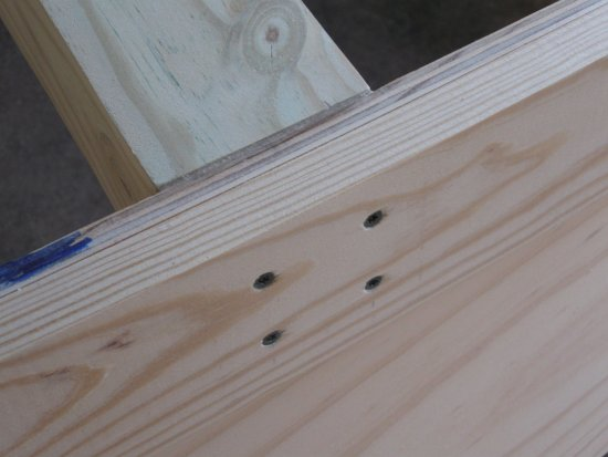 floor timber screws through chines