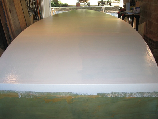 priming the skiff stern