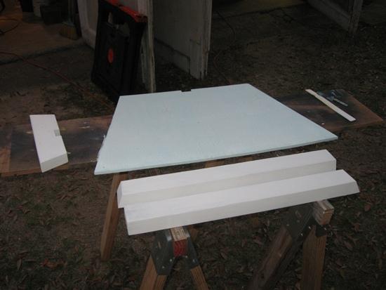 priming bow bulkhead and framing