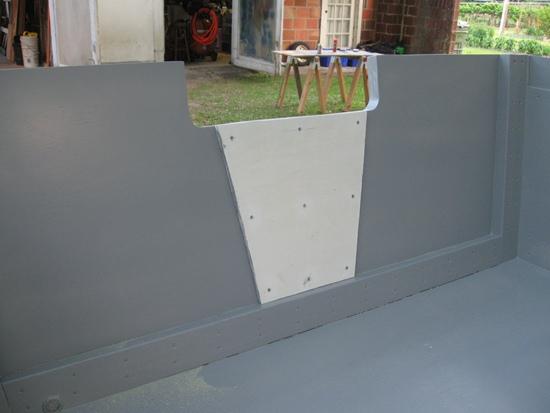 motor plate installed