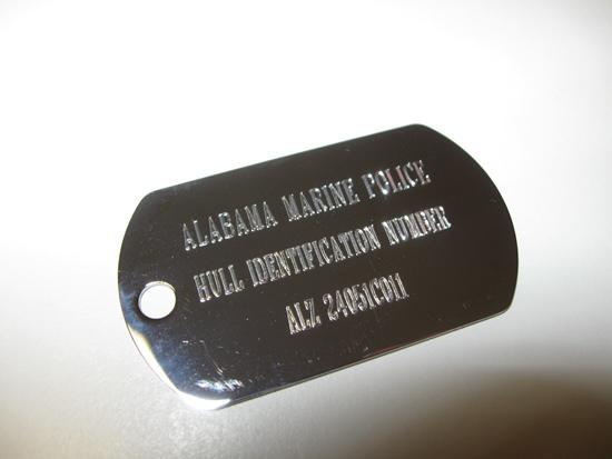 Hull ID Plate