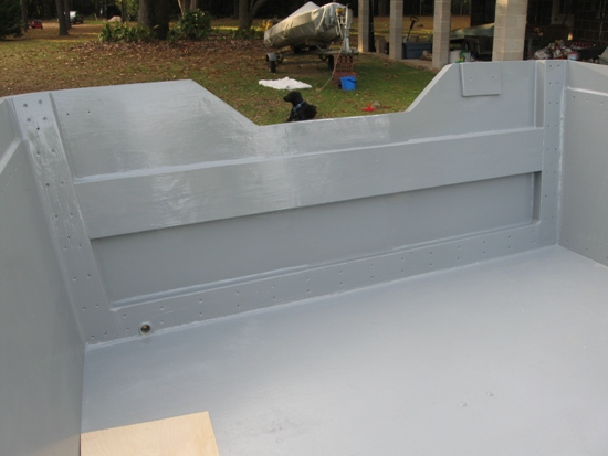 painted and supported stern